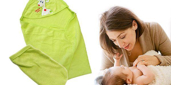 Dětská sada: osuška s čepičkou a žínka