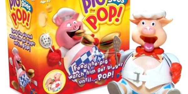 Veselá hra pro děti i dospělé s prásátkem Piggy Pop.