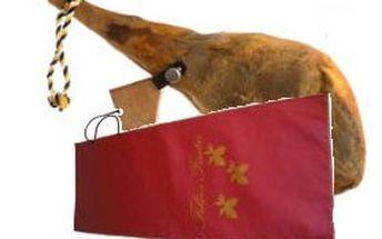 Sušená španělská kýta paleta serrana nebo jamon serrano reserva v dárkovém balení – opravdová delikatesa pro labužníky