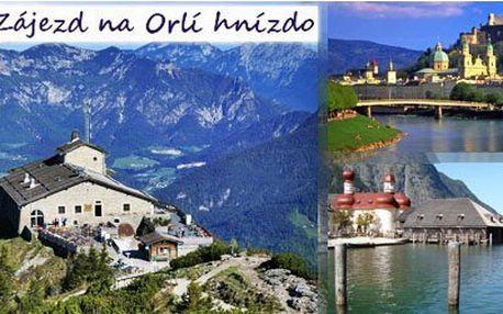 Jednodenní zájezd na Hitlerovo Orlí hnízdo jen za 828 Kč. Vybírejte si termín a variantu výletu, která vám nejvíce vyhovuje. Dechberoucí výhledy na Královské jezero, Salzburku, solné doly nebo termální lázně Watzmanna!