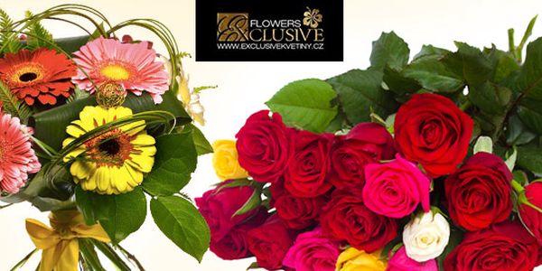 Exkluzivní kytice růží nebo gerber