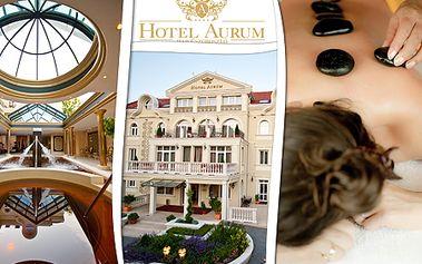 3-dňový pobyt pre 2 osoby v Hoteli Aurum**** v kúpeľnom meste Hajdúszoboszló! V cene welcome drink, polpenzia, wellness, fľaša vína! Pre rezerváciu stačí zaplatiť zálohu 34,60 €!