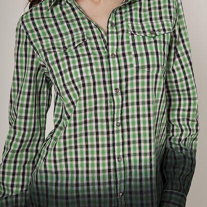 Dámska svetlo zelená kockovaná košeľa Mell