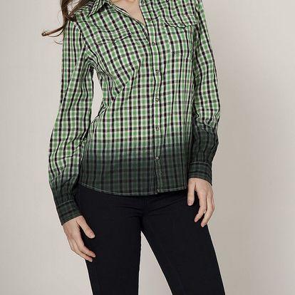 Dámská světle zelená kostkovaná košile Mell