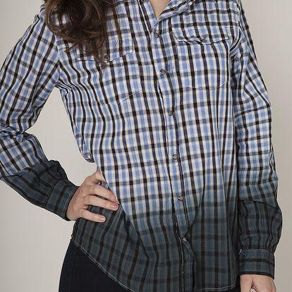 Dámska modrá kockovaná košeľa Mell