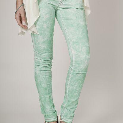 Dámske mätovo zelené džínsy Mell