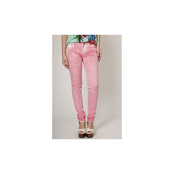 Dámské světle růžové plísňové džíny Mell