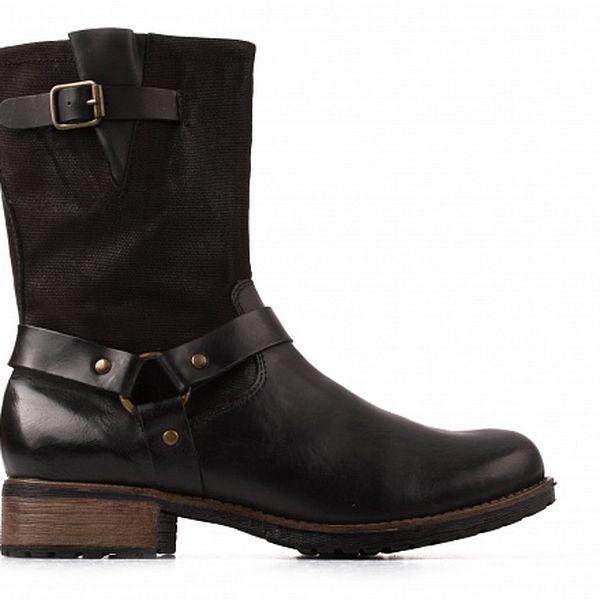 Dámské černé kotníkové boty Toscania