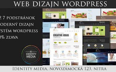 Web design s 50% zľavou teraz len za 190€! Len s našim kupónom za 1.99€!