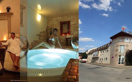 S kuponem za 699 Kč získáváte slevu 48% na romantický pobyt ve 4* Wine Wellness Hotelu Centro Hustopeče pro 2 osoby na 3 dny. Romantická 4chodová večeře při svíčkách, láhev moravského vína, volný vstup do Wine Wellness - kneippova vinařská stezka, finská sauna, finské vědro, solná vinná lázeň, parní kabina, laconium, kamenná bylinková lázeň, whirlpool a wellness procedura!!!