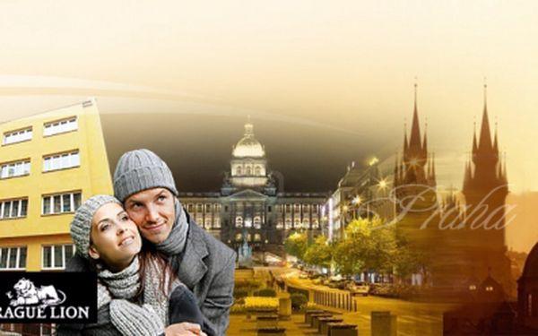 Vychutnejte si atmosféru zimní Prahy v příjemném pensionu a hostelu Prague Lion v centru metropole! Ubytování na 3 DNY pro 2 osoby se SNÍDANÍ (servírované přímo na pokoj) v pokoji s vlastním sociálním zařízením jen za 1 100 Kč!