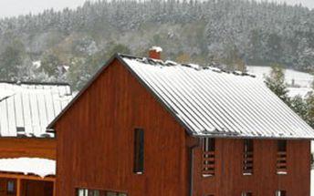 Týdenní pronájem PŘEPYCHOVÝCH horských CHALUP STODOLY, venkovní finská sauna, ubytování až pro 13 osob & výhled na panorama KRKONOŠ!