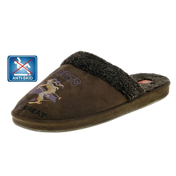 Dámske tmavo hnedé plyšové papuče Beppi