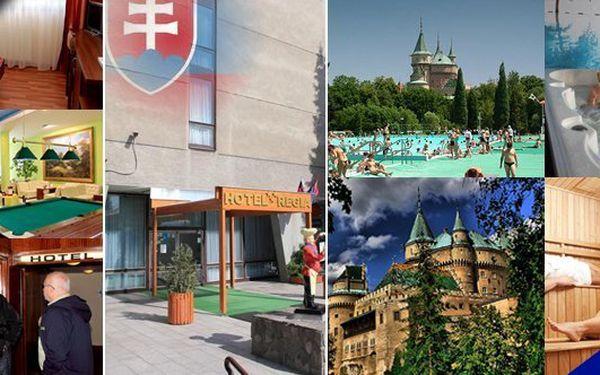 Turisticky nejvyhledávanější oblast Slovenska vás nadchne termálními lázněmi (200m od hotelu), pohádkovým zámkem a největší ZOO! Pobyt pro dvě osoby s polopenzí a platností poukazu až do konce srpna 2013