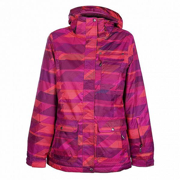 Dámská červeno-fialová zimní bunda Fundango s membránou