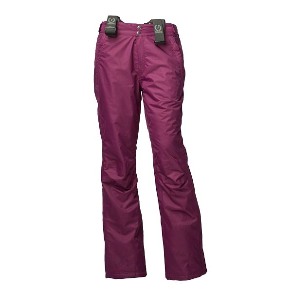 Dámske fuchsiové lyžiarske nohavice Fundango s membránou