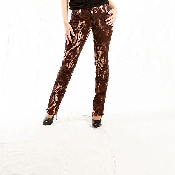Dámske hnedé žíhané džínsy Just Cavalli