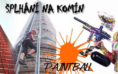 Adrenalinový víkend = paintball a výstup na komín za 999 Kč!