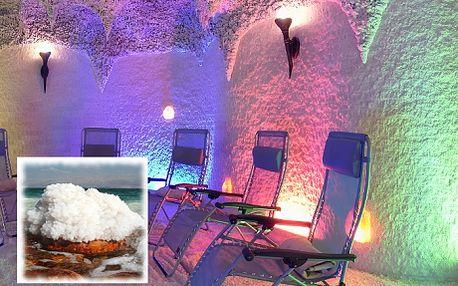 VSTUP DO SOLNÉ JESKYNĚ + 2 DĚTI DO 6 LET ZDARMA, 45 min. relaxační terapie! Solná jeskyně DAKAR je vybudovaná výhradně ze soli z Mrtvého moře! Relaxace a regenerace organismu! SLEVA 50%!!