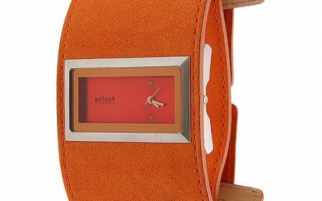 Dámské hodinky Axcent se širokým hnědým koženým náramkem