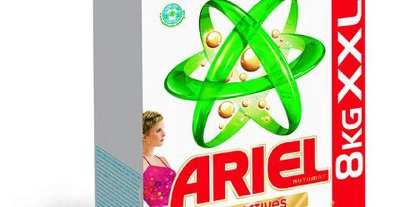 Ariel Color & Style, 8 kg. Oceňovaný prací prostředek pro zářivé barevné prádlo.