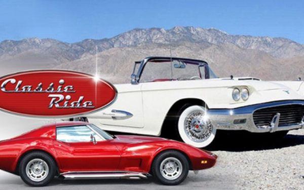 Neodolatelná nabídka! Jízda v klasických US cars! Legenda Corvette nebo kabrio-limuzína Ford! 30 minut za volantem nebo vyhlídková jízda s řidičem jen za 990 Kč! Dvě osoby jako doprovod do vozu Ford ZDARMA!