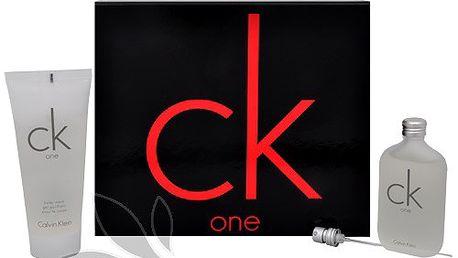 Calvin Klein CK One - osvěžující vůně, která je určena ženám i mužům 50 ml + sprchový gel 100 ml