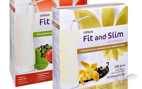 Celius Limitovaná edice Fit and Slim ultra 2x480 g (jahoda+vanilka)