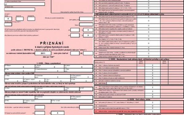 Zpracování daňového přiznání 2012
