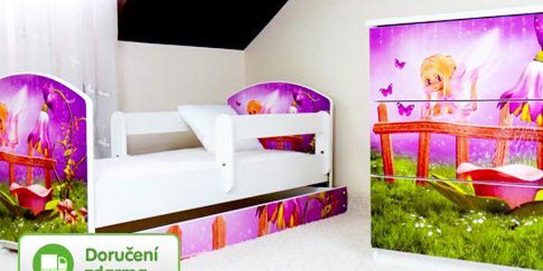 Barevné postele pro děti – doprava zdarma