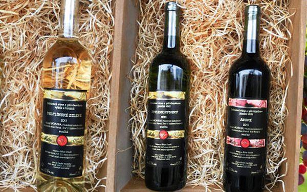 4 láhve vína z vinařství Kosík