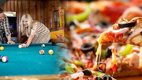 Maxi pizza o průměru 50 cm + dvě hodiny kulečníku, s kuponem za29Kč a se slevou 58% doplatíte jen 126 Kč (na výběr 6 druhů). Užijte si s přáteli skvělou zábavu v Aqua Eden!