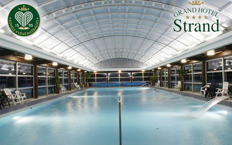 Relaxačný WELLNESS pobyt v Kúpeľoch Vyšné Ružbachy v Grand Hotel Strand****! Na výber pobyt s raňajkami alebo pobyt s polpenziou a vstupmi do bazénov!
