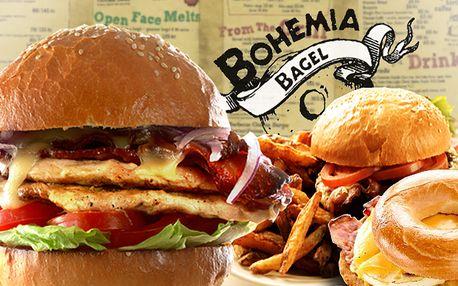 Vynikající jídlo v Bohemia Bagel s 50% slevou
