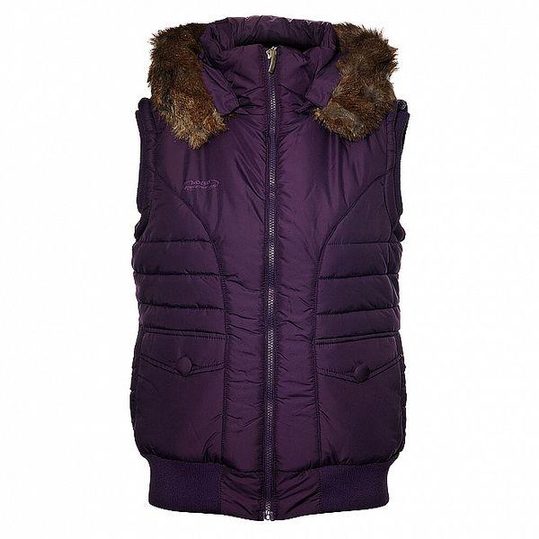 Dámská fialová prošívaná vesta Loap