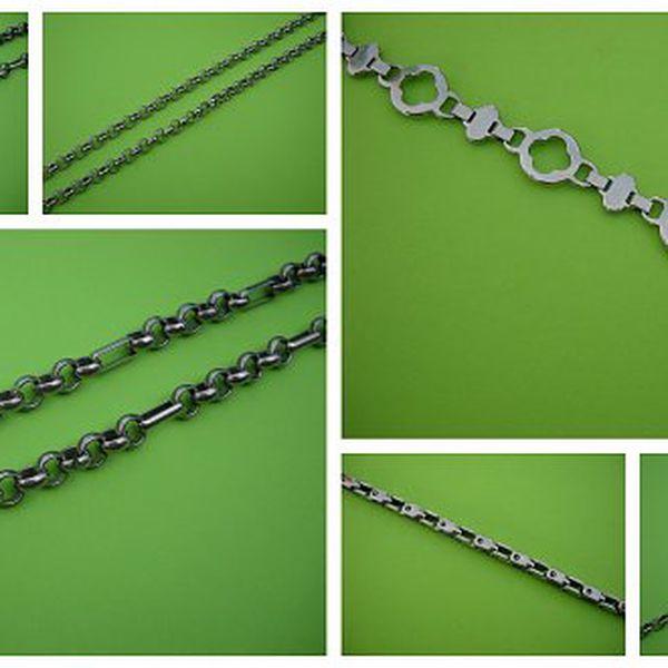 Chirurgická ocel – náramky nebo řetízky se skvělou slevou. Cena již od 99 Kč.