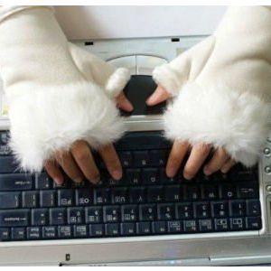 Bezprsté rukavice s kožíškem!