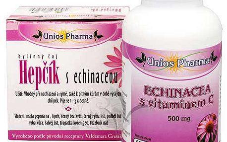 Echinacea s vitamínem C 500 mg 60 tbl. Výtažky z bylin Echinacea purpurea.