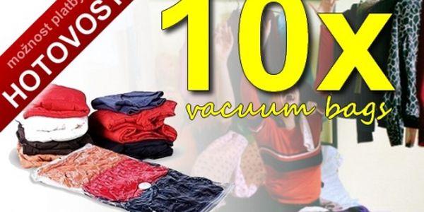 Levněji to již nejde! 10ks velkých vakuových pytlů za neuvěřitelnou cenu 299,-Kč. Uskladněte oblečení, ušetřete až 75%místa v šatníku. Vysoce kvalitní produkt. 100% záruka.