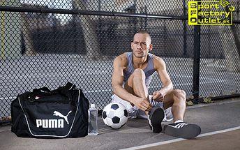 Značková cestovná taška PUMA v čiernej alebo čierno-sivej farbe len za 24 €! Priestranná taška na prenášanie vašich športových vecí alebo na cestovanie!