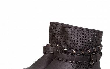 Dámske čierne kotníčkové topánky Ada Gatti