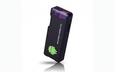 Pouhých 1289 Kč za mini počítač s Androidem 4.0. Počítač je velký jako běžný flashdisk, snadno k němu připojíte monitor, TV, dokáže přehrávat hudbu a videa. Ideální pro surfování a vyřizování e-mailů na cestách.