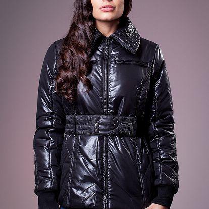 Dámska lesklá čierna zimná bunda Ada Gatti