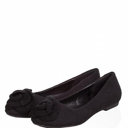 Dámské černé plstěné baleríny Ada Gatti