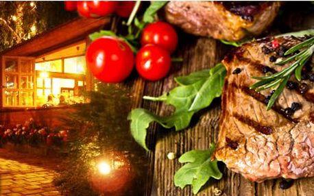!Exkluzivní nabídka! 2x 250 gr. ARGENTÝNSKÝ steak z vysoké roštěné z grilu v restauraci Grill House v Brně jen za 299,- Kč!