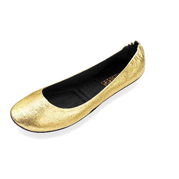 Dámské zlaté skládací baleríny RedFoot