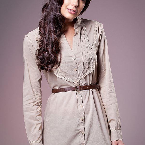 Dámská béžová košile Ada Gatti s páskem
