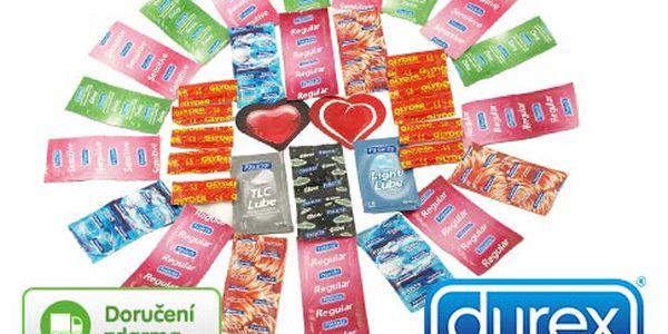 Valentýnské kondomy Durex a Pasante
