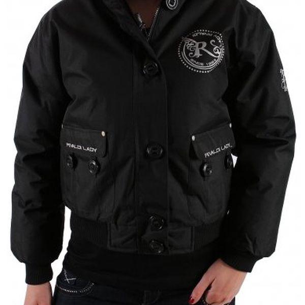 Moderní černá dámská zimní bunda Rivaldi s kožíškem.
