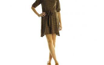 Dámske hnedé úpletové šaty Rocawear